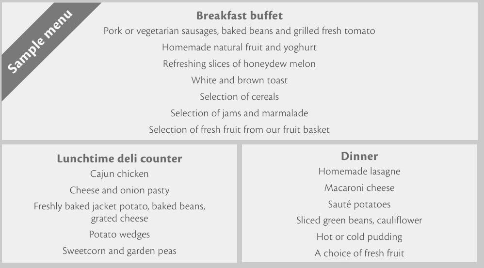ejemplo menu kent