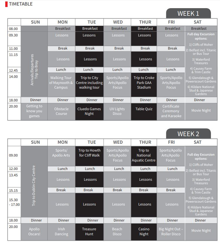 maynooth timetable residence