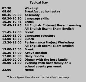horario ejemplo bournemouth