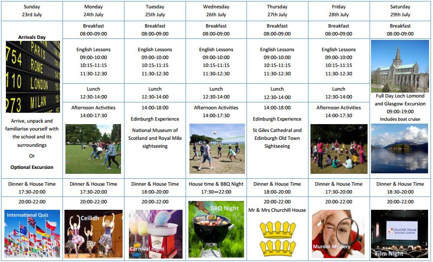programa actividades edimburgo